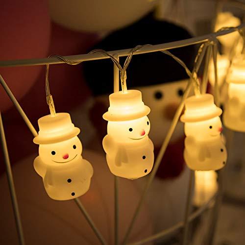 OUYAWEI Weihnachtsdekoration Lichterketten LED Schneemann Schöne Fee Lichterkette für Schlafzimmer Rasen Landschaft Garten Haus Urlaub Warmweiß 1,5 m 10 leichte Batterie Weihnachtsdekoration