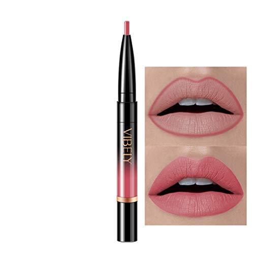 Eucoo donna rossetto matte matita antiaderente lip liner lip liner 16 colori sexy diversi colori rotazione fodera per labbra rossetto