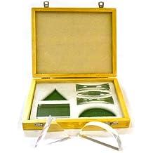 eisco Labs avanzada acrílico PRISMA y lente en caja de madera (Set de 6)