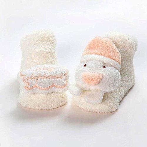 D2 12 (FJY Baby Kleinkind Socken Korallensamt Winter Herbst Cartoon Tiere Anti-Rutsch GemüTlich Warm Mit Innen Draussen FußBoden?2 Paare , Package D-2 double , 12-24 months)