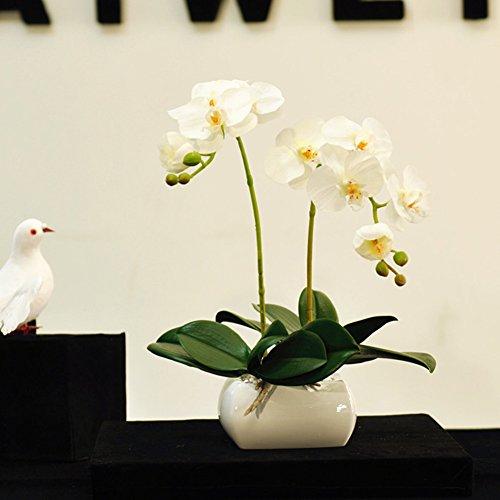 Corpetto finto fiore,le orchidee fiore di seta fiore di simulazione flower arrangement piante in vaso soggiorno cucina ufficio-bianca