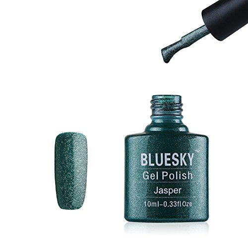 BLUESKY Limited Edition Holiday Schatten Jasper grün glitter UV Gel Nagellack, 10ml - Jasper Led