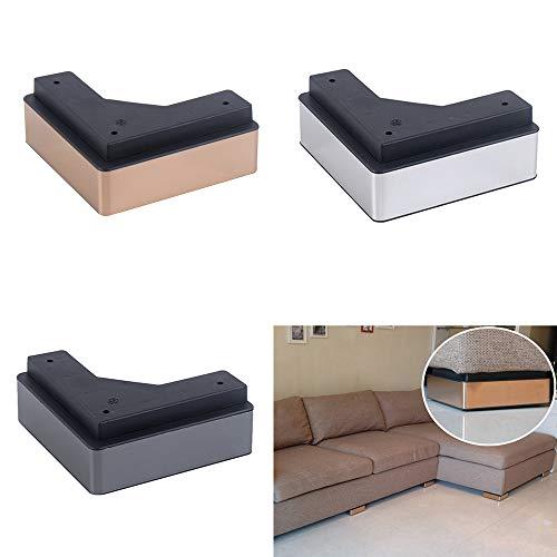 DGXQ L-förmige Plastikbeine/Stützfuß,Bett Fuß,Teetisch füße,Moderne Haushaltsgegenstände,4 Stück -