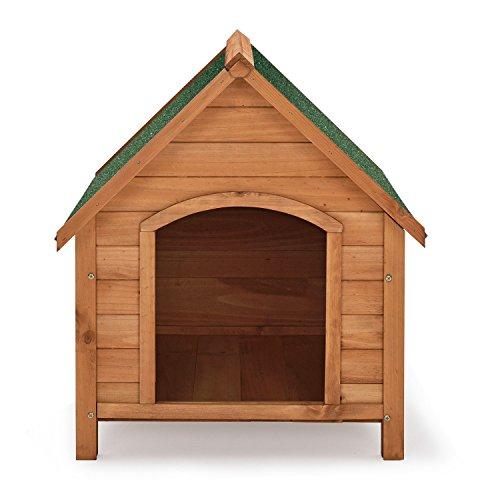 """Hundehütte / Hundehaus """"Rocky"""" mit aufklappbarem Bitumendach und erhöhtem Boden 71 × 88 × 83cm - 2"""
