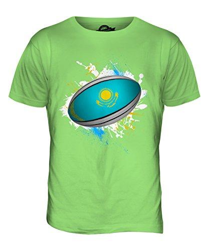 CandyMix Kasachstan Rugby Ball Herren T Shirt Limettengrün