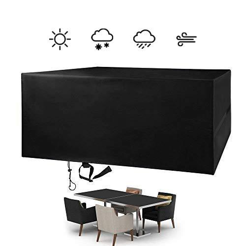 FlyLemon Housse Salon de Jardin, Protecteurs Anti-UV Imperméables De Patio De Tissu De 420D Oxford avec Dix Tailles. (180 * 120 * 74 cm)