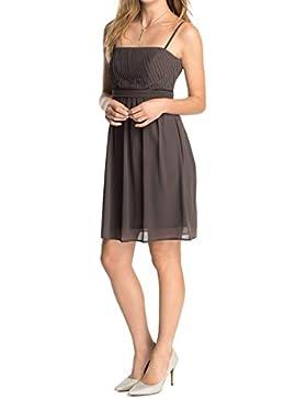 ESPRIT Collection Damen Bustier Kleid, Knielang, Einfarbig