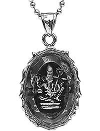 37a38ad64d7c Epinki Collar Acero Inoxidable Plata Elefante Dios Animal Colgante Collar  para Hombre