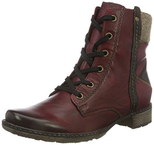Antik-leder-schuhe (Remonte D4390, Damen Combat Boots, Rot (vino/antik/wine/wood / 35), 41 EU)