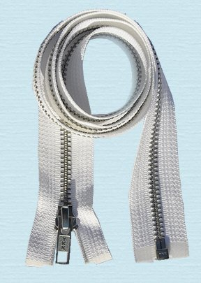ZipperStop Wholesale Authorized Distributor YKK 30 Jacket Zipper ~ YKK #5 Aluminum Metal ~ Medium Weight YKK Zipper ~ Separating Bottom ~ White (1 Zipper) by ZipperStop Wholesale Authorized Distributor