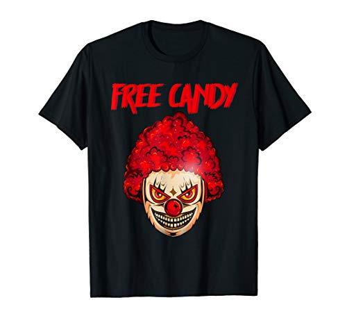 Scary Clown Herren Gruseliges Halloween-Kostüm Böse Killer T-Shirt (Clown Herren Halloween-kostüme Böser)