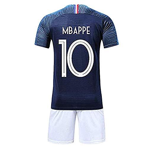 new style 9601c ab1ab LJP FFF campeón del Equipo francés Jersey 2018 Copa del Mundo Dos Estrellas  con Shorts,Blue,26