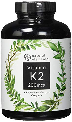 Vitamin D3 + K2 Depot - 180 Tabletten - Premium: 99,7+{e9dc69bbc4f8820ad3f189199ea2c6539242a248cd4d4aef75bb9378052b5cd4} All Trans MK7 (K2VITAL® von Kappa) + 5.000 IE Vitamin D3 - Hochdosiert und hergestellt in Deutschland