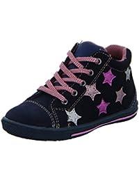 Lurchi 33-14436-29 Groby, Chaussures Premiers Pas Pour Bébé (Fille) BLACKBE - Bleu - Violet, 22