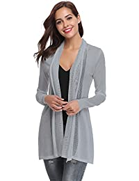2762d5eb13 Abollria Waterfall Cardigan for Women Summer Lightweight Long Sleeve Open  Front Cardigans