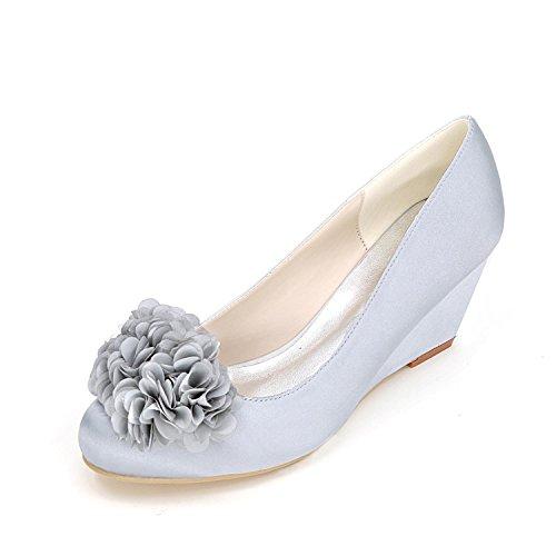L YC Chaussures de Mariage pour Femmes Chaussures de Talon à Talons Haut de Gamme Robe de MariéE en Satin Robe de SoiréE Et SoiréE, Purple, 37