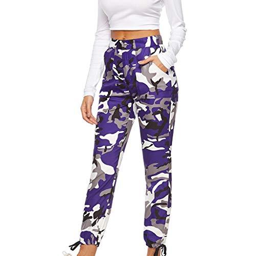 UFACE Womens Mid Waist Camouflage Gestreifte Hose Damen Casual Drawstring Hosen Frauen High Elastic Yoga Hosen Grau und Weiß Streifen Printing Slimming Sportswear Persönlichkeit Workout Leggings