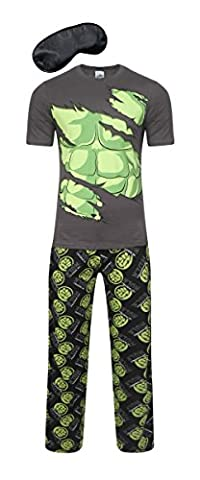i-Smalls Herren Super Hero Comic Schlafanzug Kollektion (Hulk Zerrissen) M