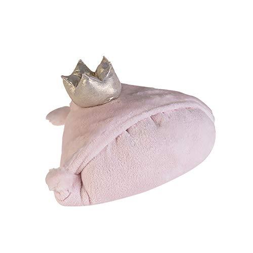 GKPLY Senior Coral Decke, Krone Schal Weibliche Winter Praktische Decke Mit Handschuhen Plus SAMT Dicke Warme, Multifunktionale Decke (Pink)