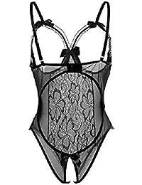 Yuson Girl® Lencería Lingeries Sexy Lace Mujer Ropa de Dormir Conjunto Ropa Crotchless Babydoll