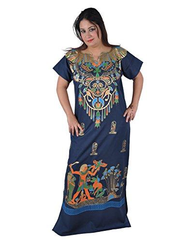 Und Cleopatra Kostüm Pharao - Egypt Bazar Cleopatra Pharao Kostüm Damen-Kaftan Faschingskostüm Karnevalskostüm Ägypterin dunkelblau (L (44-46))