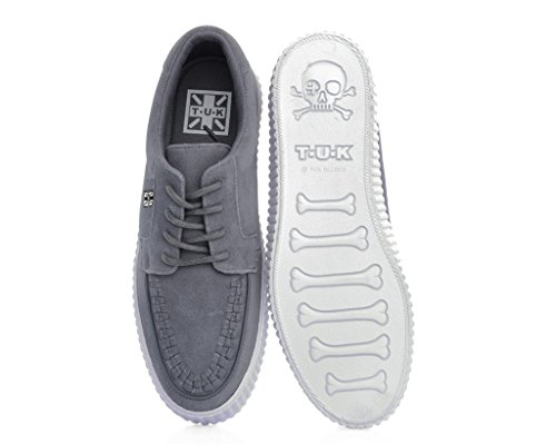 T.U.K. Shoes Mens EZC Grey Suede White Shoe Grey