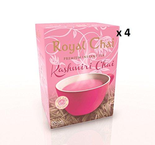 Royal Chai Premium Instant Tea Kashmiri Chai (Pink Tea) Sweetened - Pack of 4