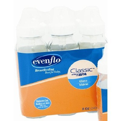 evenflo-8-oz-clear-glass-baby-bottles-with-silicone-nipples-3-pk