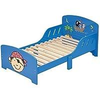 4Uniq Kinderbett Pirat blau lackiert Bettgestell Spielbett Holzbett Bett preisvergleich bei kinderzimmerdekopreise.eu