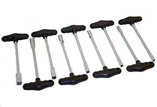 Angebot 9-tlg. T-Griff Steckschlüssel-Satz CV-Stahl Steckschlüssel-Set
