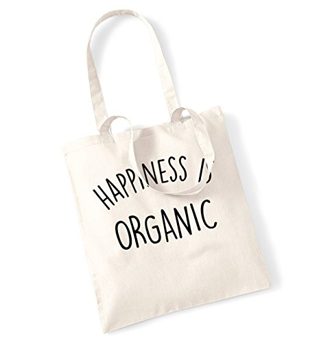Happiness is organic tote bag
