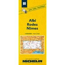 Carte routière : Albi - Rodez - Nîmes, 80, 1/200000