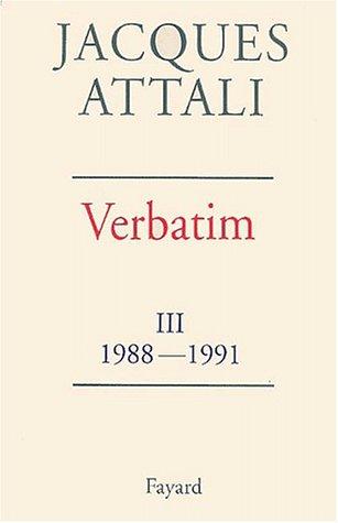 verbatim-tome-3-chronique-des-annes-1988-1991