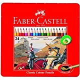 Faber-Castell 115845 Multi 24pc (S) Colour Pencil – Colour Pencils (24 PC (S), Multi, Wood, Multicolour, hexagonal)