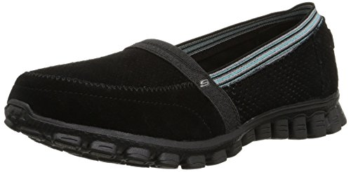 Skechers Sport Ez Flex Tweetheart Slip-on Sneaker Black/Blue
