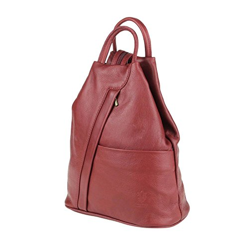 OBC Only-Beautiful-Couture, Borsa a zainetto donna marrone Taupe V1 ca. 25x30x11 cm (BxHxT) rosso scuro