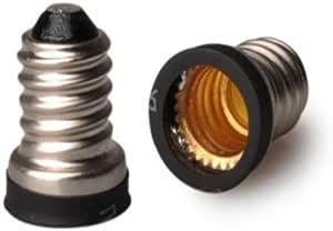 1//10pcs E12 to E14 LED Lamp Bulb Socket Adapter Converter Lamp Holder Adapter