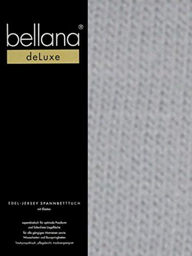 bellana® deLuxe Spannbetttuch für Wasserbetten und Boxspringbetten, 180-200 x 200-220 cm, silber (Wasserbett Matratze Queen-size)
