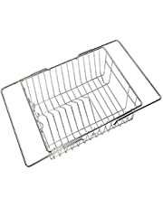 DEW MAT Stainless Steel Dish Drainer Rack without Tray for Kitchen (Silver)