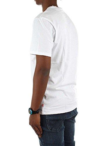 Levi's® Herren T-Shirt Graphic Tee Housemark Best White Bianco