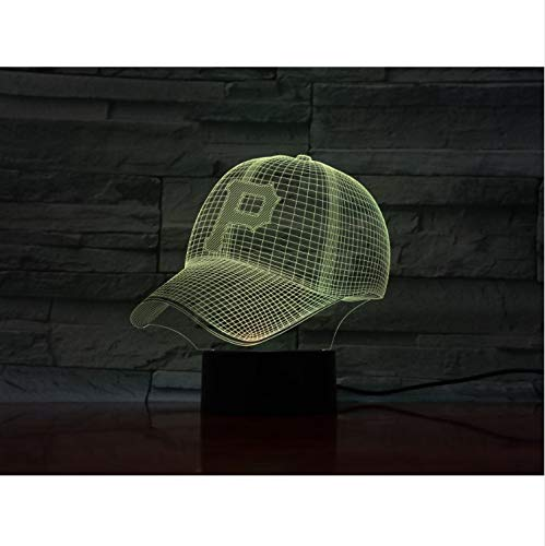 Pittsburgh Pirates Baseball Cup 3D Led Lampe Nacht Touch Sensor Rbg 7 Farbwechsel Kinder Kinder Geschenk Usb Nachtlicht Dekor - Pittsburgh Pirates-cup