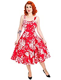 Hearts & Roses - Robe - 50's, Rockabilly - Femme rouge Red