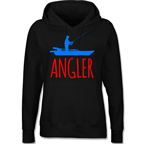 Angeln - Angler Boot - Angelboot - langärmeliger Damen Kapuzenpullover / Hoodie