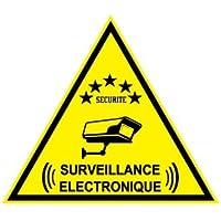"""Autocollant de dissuasion """"surveillance électronique"""" lot de 6 pièces"""