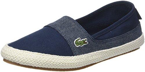 Lacoste Damen Marice 218 1 Caw Sneaker, Grün (Nvy/Lt Blu 7e9), 37.5 EU