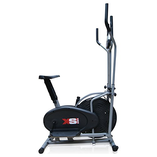 41J2c6EbP1L. SS500  - Pro XS Sports 2-in1 Elliptical Cross Trainer Exercise Bike-Fitness Cardio Weightloss Workout Machine-With Seat + Pulse Heart Rate Sensors
