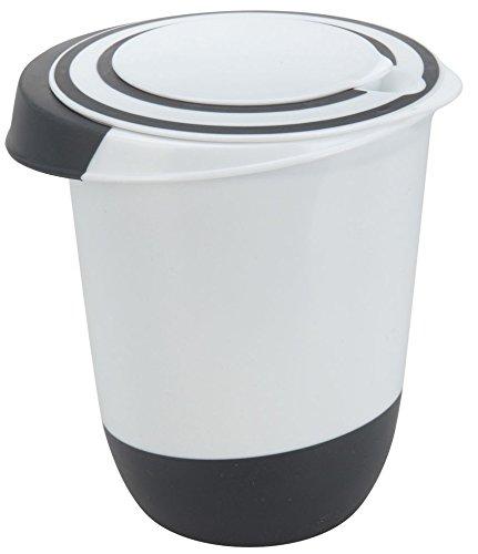 Spetebo Rührschüssel - 1,5 l - Kunststoff Schüssel mit Deckel und Stoppboden - Spülmaschinenfest