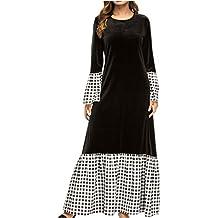 Vestiti Taglie Forti Maxi Dress-Signore Taglia Grossa Vestito Nero Vintage  Swing Sera Gown c906cba4b49