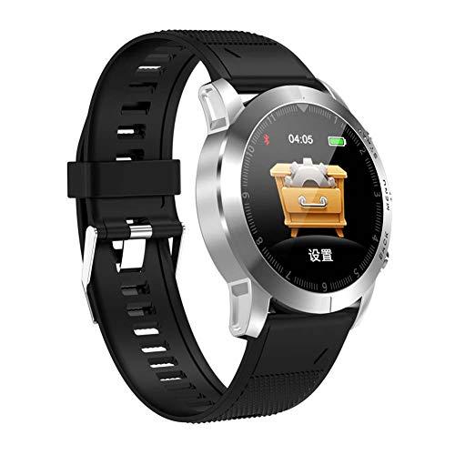 WHOME Smartwatches for Man Schrittzähler Herzfrequenzmesser Smartwatch-Informationen zur Herzfrequenzüberwachung erinnern an wasserdichtes Armband im Multi-Motion-Modus-c5 -
