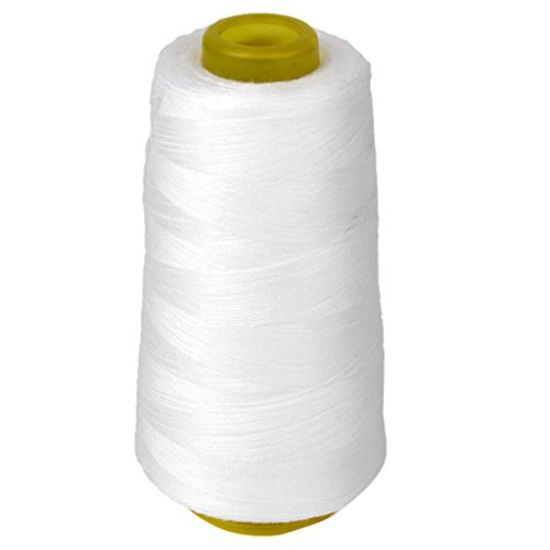 Imported Spool of Polyester Sewing Thread for Sewing Machine 40S/2 White